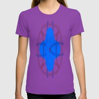 Bleige Rings Womens Fitted Tee Ultraviolet SMALL