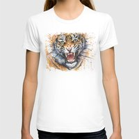 tiger T-shirts featuring Tiger by Olechka