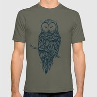 Snow Owl  Mens Fitted Tee Lieutenant SMALL