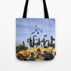 Crows in Tuscany Tote Bag