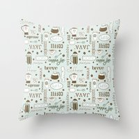 Java me crazy Throw Pillow