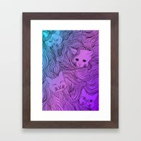 Shades of Cat Framed Art Print