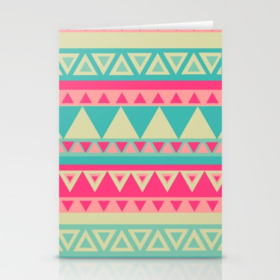 Tropical Tribal Stationery Card