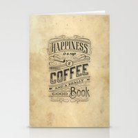 Coffee - Typography V2 Stationery Cards