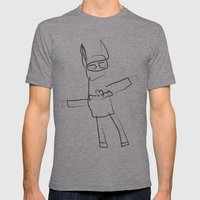 BAT MAN! Mens Fitted Tee Athletic Grey SMALL