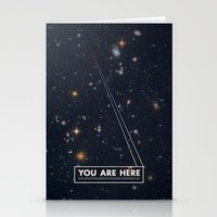 typography Stationery Cards featuring THE UNIVERSE - Space | Time | Stars | Galaxies | Science | Planets | Past | Love | Design by Mike Gottschalk
