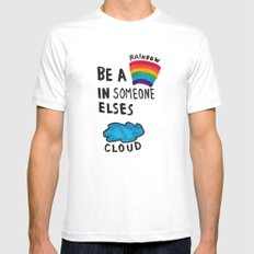 Be a Rainbow Mens Fitted Tee SMALL White