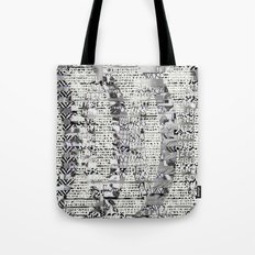 The Eternal Return Of The Unique Event (P/D3 Glitch Collage Studies) Tote Bag