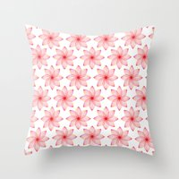 Gradient Strings Blossoms Throw Pillow