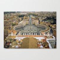 Piazza San Pietro, Vatican Canvas Print
