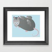 Adorable Mommy Possum Framed Art Print