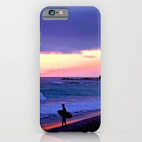 iPhone & iPod Case featuring Sunset Skimboarder by Barbara Gordon Photography