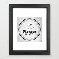 Pioneer Plaza Framed Art Print