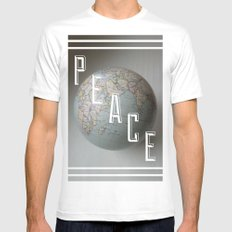 Peace SMALL White Mens Fitted Tee