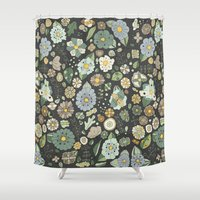 Chocolate Con Menta Shower Curtain