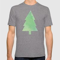 Simple Pine Tree Forest … Mens Fitted Tee Tri-Grey SMALL