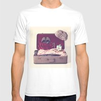 Vintage Journey Suitcase (His) (Retro and Vintage Still Life Photography) Mens Fitted Tee White SMALL