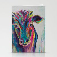 Texas Cow Stationery Cards