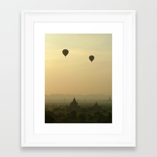 Above the Temples Framed Art Print