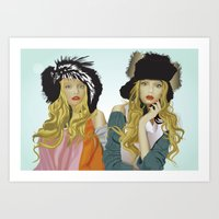 Art Print featuring red lip twins by Jordan McLaughlin