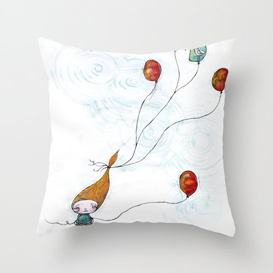 Balloonessa Throw Pillow
