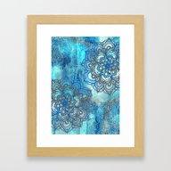 Lost In Blue - A Daydrea… Framed Art Print