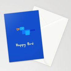 Happy Bird-Blue Stationery Cards