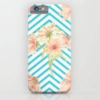 iPhone & iPod Case featuring Flowers and Stripes by All Is One