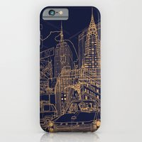 iPhone & iPod Case featuring New York! Night by David Bushell