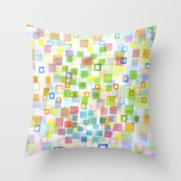 Throw Pillow - Raining Squares and Frames - Heidi Capitaine