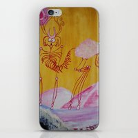 Thin Cartoon Deer iPhone & iPod Skin