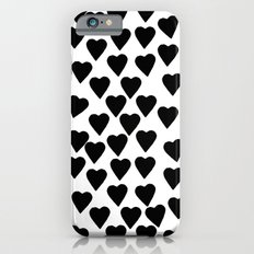 Hearts Black and White Slim Case iPhone 6s