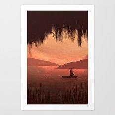 The Fishing Trip Art Print