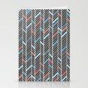 Herringbone Black and Blue #2 Stationery Cards