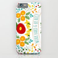 iPhone & iPod Case featuring Work Hard & Be Nice by Krystal Nicole