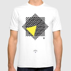 The Triangle Experiment White Mens Fitted Tee SMALL