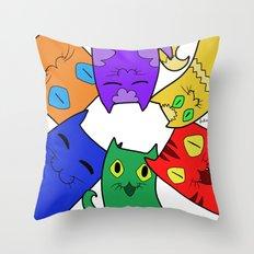 Urban cats Throw Pillow