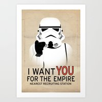 Stormtrooper I Want YOU  Art Print