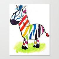 Colorful Zed Canvas Print