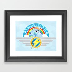 Weather Patrol Framed Art Print