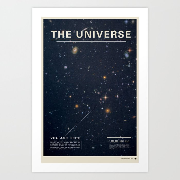 Sunday's Society6 | The Universe art print