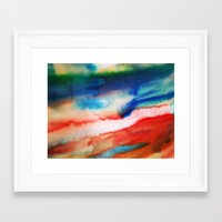 Framed Art Prints featuring RedBlue2 by Regan's World