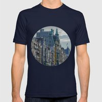 Amsterdam Layover Mens Fitted Tee Navy SMALL