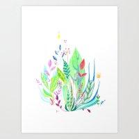 Plants In My Garden Art Print