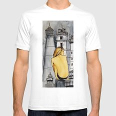 lighthouse SMALL White Mens Fitted Tee