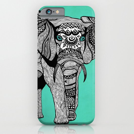 Tribal Elephant Black and White Version iPhone & iPod Case