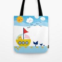 Sailing Cat Tote Bag
