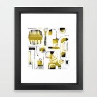 ABSTRACT ON WHITE Framed Art Print