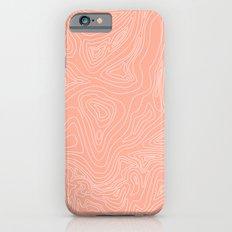 Ocean depth map - coral Slim Case iPhone 6s