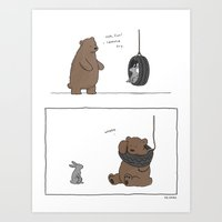 Tire Swings Are Fun  Art Print